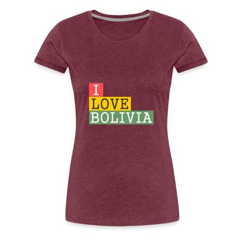 I Love Bolivia Tricolour - Camiseta premium mujer