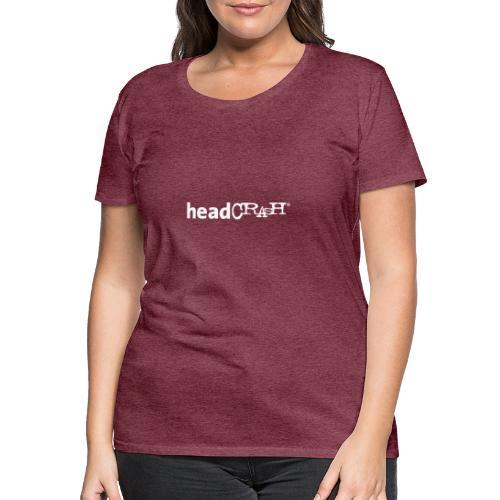 headCRASH Logo white - Frauen Premium T-Shirt