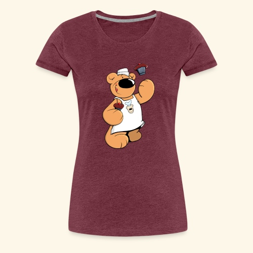Der Bäcker Bär backt leckere Muffins - Frauen Premium T-Shirt