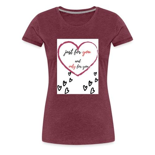 just for lovers design - Vrouwen Premium T-shirt