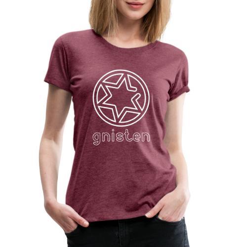 Gniste Ry (hvidt tryk - vertikalt) - Dame premium T-shirt