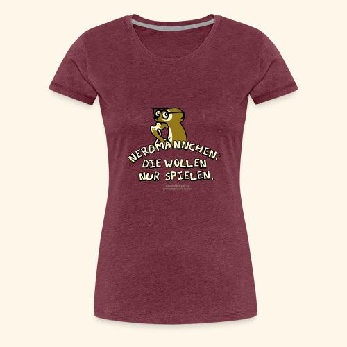 Nerdmännchen Erdmännchen Design für Geeks & Nerds - Frauen Premium T-Shirt
