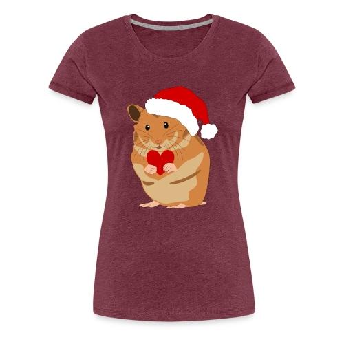 Weihnachtshamster Weihnachten Hamster Geschenk - Frauen Premium T-Shirt