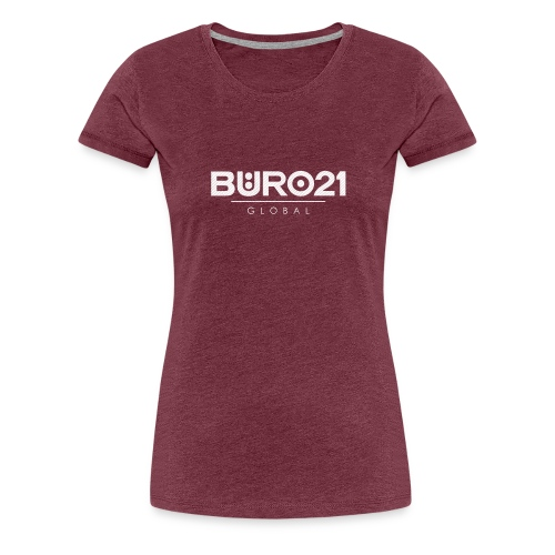 BÜRO21 Global Pinstripe - Frauen Premium T-Shirt