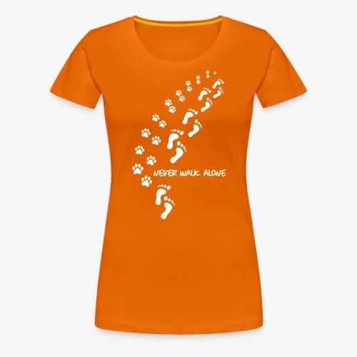 never walk alone dog - Frauen Premium T-Shirt