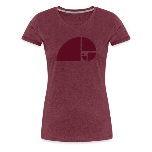 Goldener Schnitt - Fibonacci Spirale - Phi - Folge - Frauen Premium T-Shirt