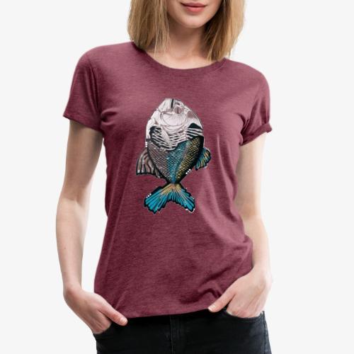 Streetart Fisch - Frauen Premium T-Shirt