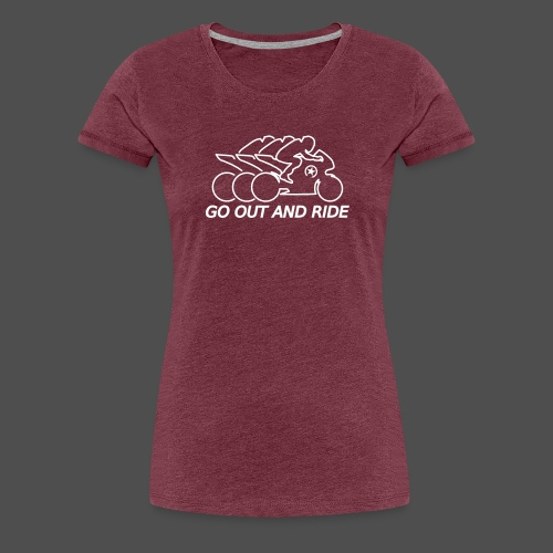 go out and ride superbike - Women's Premium T-Shirt