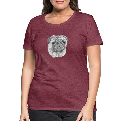 Pug - mops 1 - Dame premium T-shirt