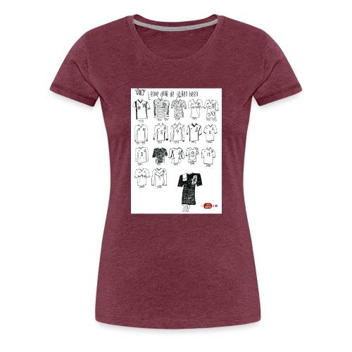 Voelbal tenue door de jaren heen - Vrouwen Premium T-shirt