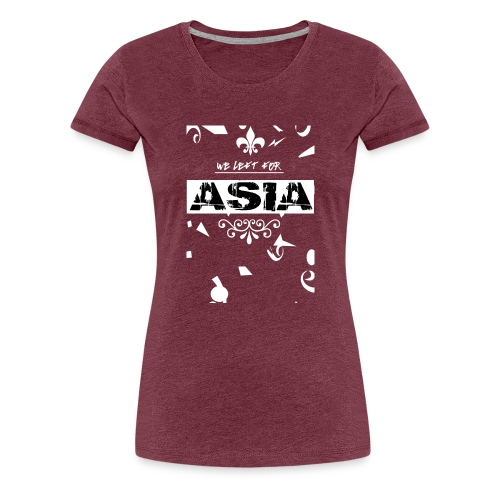 BACK 2 3 png - Vrouwen Premium T-shirt