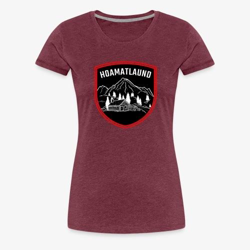 Hoamatlaund logo - Frauen Premium T-Shirt