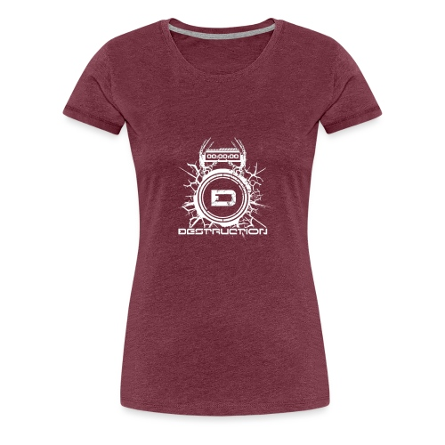 DESTRUCTIONRECORDS LOGO - T-shirt Premium Femme