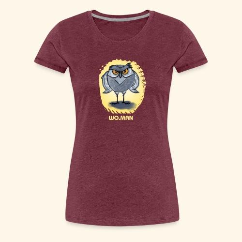 hibou wo.man design - T-shirt Premium Femme