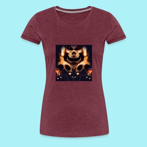 Tête de mort à la chandelle - T-shirt Premium Femme