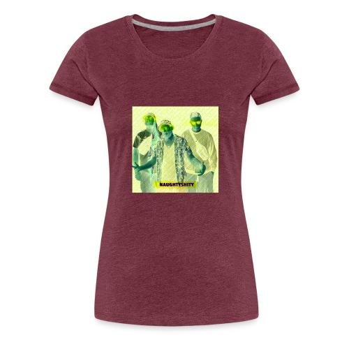 Naughtyshity yellow - Frauen Premium T-Shirt