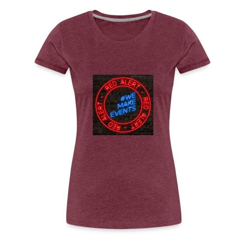 Red Alert Neon Bricks 02 - Women's Premium T-Shirt