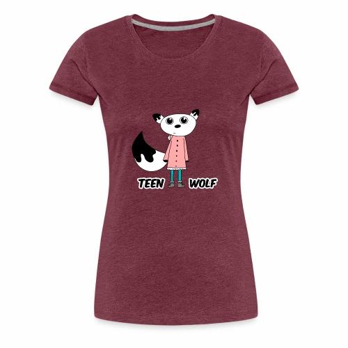 Lustiger Teen Wolf mit Jacke für den Winter - Frauen Premium T-Shirt