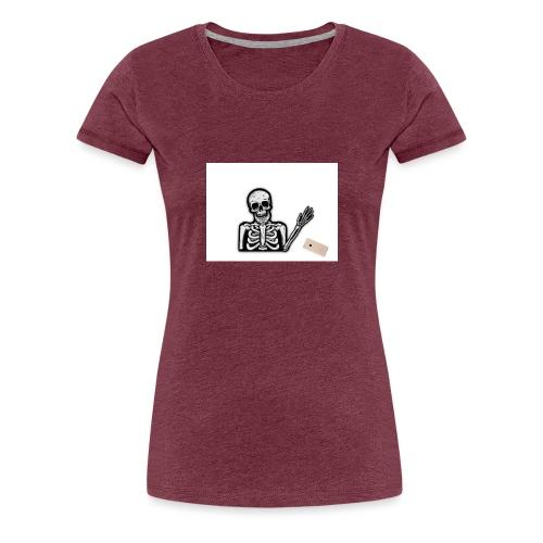 Skelett som tappar sin mobil - Premium-T-shirt dam
