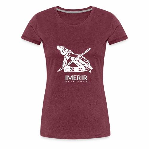 Ancien logo imerir blanc - T-shirt Premium Femme