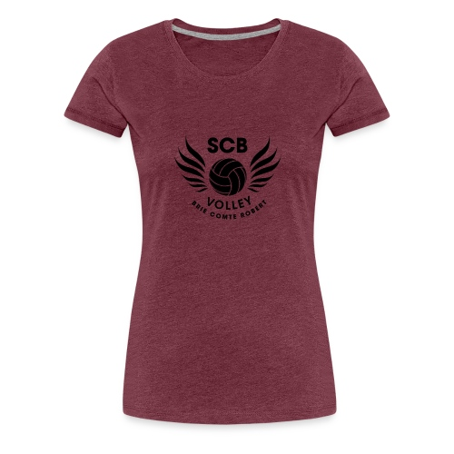 LogosVolleyBall MonochromeNoir - T-shirt Premium Femme