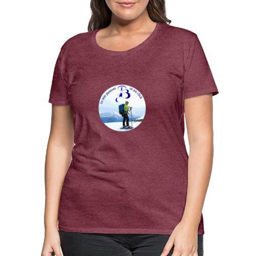 Logo cartone ciaspole - Maglietta Premium da donna