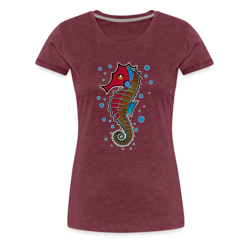seepferdchen, sea horse, hippocampus - Frauen Premium T-Shirt