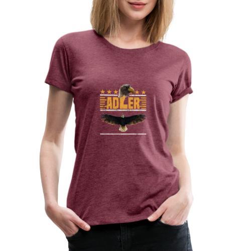 ADLER - Adlerkopf - Sterne - Greifvogel begeistert - Frauen Premium T-Shirt