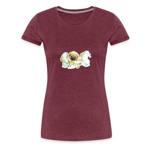 Mops knochen - Frauen Premium T-Shirt