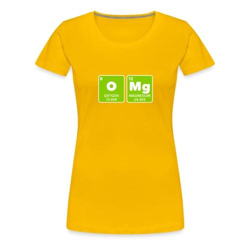 periodic table omg oxygen magnesium Oh mein Gott - Women's Premium T-Shirt