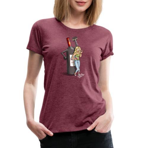Beerbottle revenge Redwine - Premium-T-shirt dam