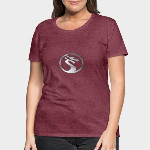 LOGO DRAGON PLATA - Camiseta premium mujer