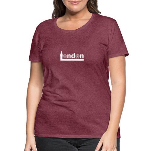 London Souvenir - Text London Sehenswürdigkeiten - Frauen Premium T-Shirt