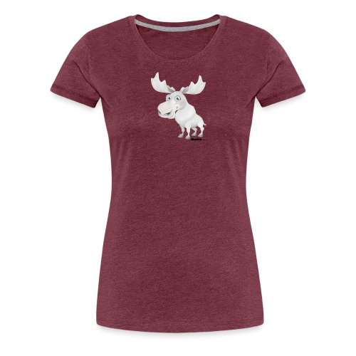 Albino Elch - Frauen Premium T-Shirt