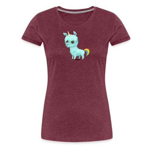 Llamacorn - Premium T-skjorte for kvinner