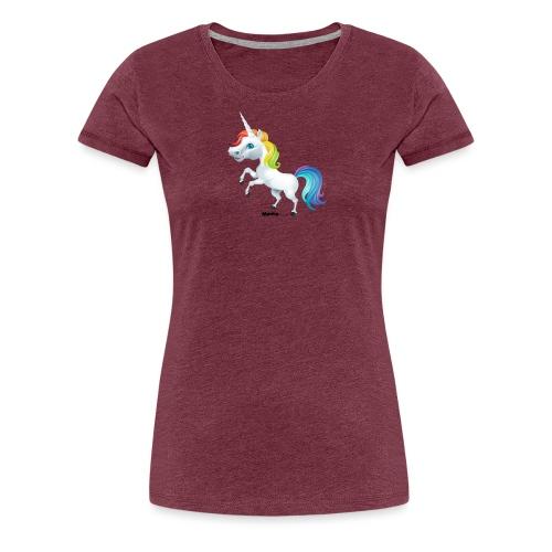 Rainbow yksisarvinen - Naisten premium t-paita