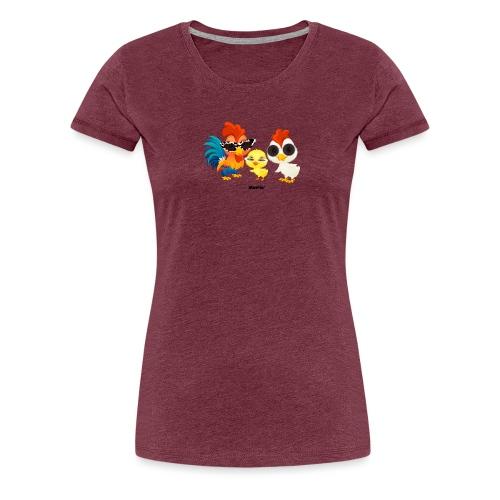 Huhn - von Momio Designer Emeraldo. - Frauen Premium T-Shirt