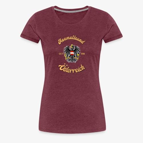 Österreich hoamatlaund retro desígn - Frauen Premium T-Shirt