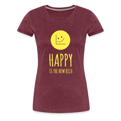 Happy is the new rich - Women's Premium T-Shirt