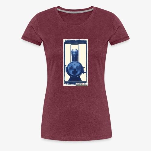 Lok-Laterne mit Logo schienen.ch - Frauen Premium T-Shirt
