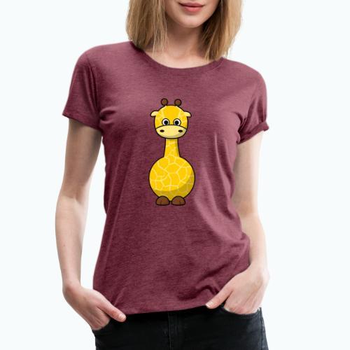 Gigi Giraffe - Appelsin - Premium-T-shirt dam