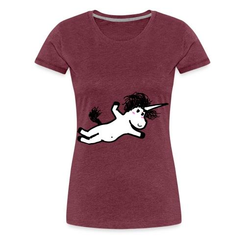 unicorno che si lancia sul nulla - Maglietta Premium da donna