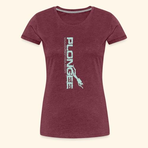 Plongée Evasion Bleue - T-shirt Premium Femme