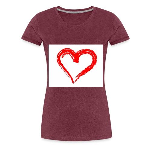 herznur50ct - Frauen Premium T-Shirt
