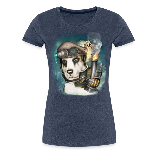 Steampunk Dog #2b - Maglietta Premium da donna