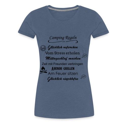 Camping Regeln - Frauen Premium T-Shirt