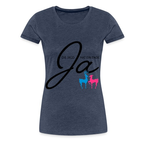Jägerhochzeit - Frauen Premium T-Shirt