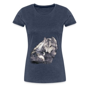 wolf and forest - Camiseta premium mujer