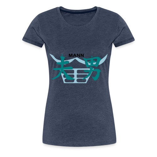 Chin Mann - Frauen Premium T-Shirt