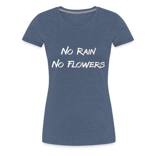 Rain Flowers - Vrouwen Premium T-shirt